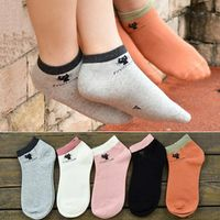 New hot selling Japanesen type 3D print small cat pure women boat socks, Whosale 5 Colors Lady girls solid socks slippers