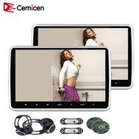 Cemicen 2PCS 10.1 Inch Car Headrest Monitor DVD Video Player USB/SD/HDMI/IR/FM