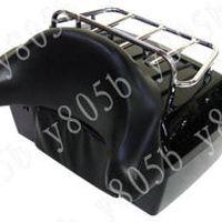 Black Trunk Tail Box Luggage With Top Rack Backrest For Suzuki Boulevard C50 Volusia 800 C90 M109R C109 Marauder M50 Intruder