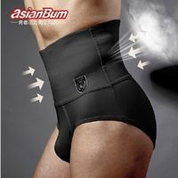 Free shipping ASIANBUM Men's briefs Waist abdomen with a closed belly fat burning shapewear panty girdle male 2 color