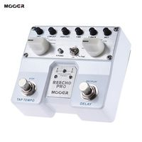 MOOER Reecho Pro Digital Guitar Effect Pedal Twin Footswitch with 6 Delay Effects