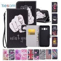 YIESOM Case for Samsung Prime Cover Flip Wallet Leather Coque for Samsung Galaxy