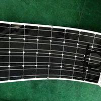 Singfo Solar Can be flexible in roof car yacht on solar panels 100w semi-flexible