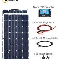 Boguang 200w plate solar panel kit 12v/24v battery for home 2*100 watt 20A controller
