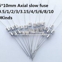 NIUEWISX 10Kind 100Pcs/lot 3.6*10mm 250V Double iron cap Axial Slow Glass fuse