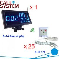 Nurse call button Wireless emergency call bell elderly hospital 1 receiver 25 pull cord with hand shake