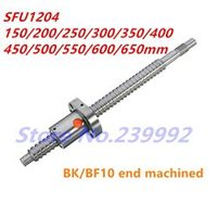 SFU1204 150 200 250 300 350 400 450 500 550 600 650 mm C7 ball screw with 1204 flange