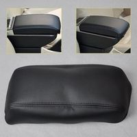 CITALL DIY Black Leather Breathable Front Console Lid Armrest Cover Perfector for Honda Accord 1998 1999 2000 2001 2002