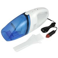 AUTO White Clear Blue Plastic Car Dust Vacuum Cleaner DC 12V