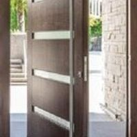 Solid wood pivot front door for sale, modern external pivot doors