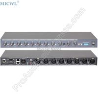 MICWL R2820 Eight Channel Sound Mixer for Conference Desktop Table Gooseneck System