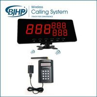 wireless service calling system queue management system