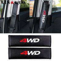 LIN&GUO 2pcs/set case for Toyota RAV4 4WD Ford VW BMW Honda CRV Carbon fiber