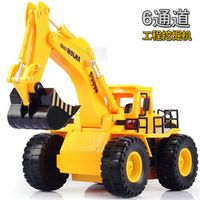 360 degree rotation stunt RC cars Children excavator electric toy car simulation project car electronic toys remote control toys