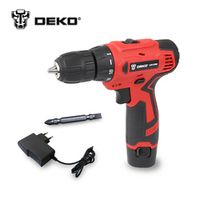 DEKO LCG12VDU 12V DC New Design Household DIY Lithium-Ion Battery Cordless Drill/Driver Power Drill Tool Electric Drill Woodwork