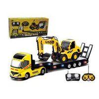 2PCS /Set Big Remote Control Truck+RC Excavator Detachable Kids Electric Big Rc truck Trailer Remote Control Wireless Truck Toy