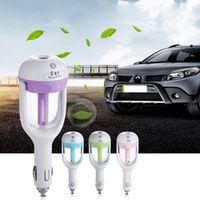 kebidumei 4Pcs 12V Car Steam Humidifier Aroma Mini Air Purifier Aromatherapy
