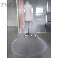 MisShow Wedding Veil Lace Cathedral Bridal Veil
