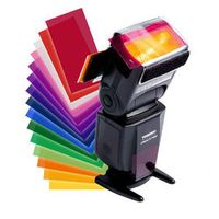 Gel Filter For Yongnuo 12 pcs Color Card Balance with Rubber Band Studio Lighting