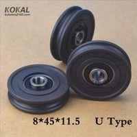 [U0845-11.5]Low noise high loading 628RS u Groove sliding door roller wheel 8*45*11.5mm nonstandard bearing u type pulley