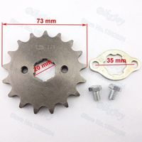 428 17 T Tooth 20mm ID Front Engine Sprocket for 50cc-160cc Orion Apollo Dirt Pit Bike ATV Quad Go Kart Buggy Scooter Motorcycle