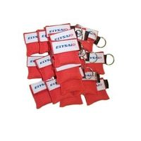 Elysaid 20Pcs/Pack Stlye First Aid CPR Face Shied Keychain One-way Valve Resuscitator