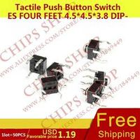 KOKY 1LOT 50PCS Tactile Push Button Switches Four Feet