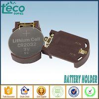 Enjoybeautylife 5PCS CR2032 2032 Battery Button Cell Holder Socket Case Black