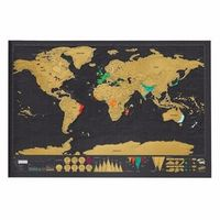 OUTAD 1pcs Travel Deluxe World Map Scratch Off For Vacation