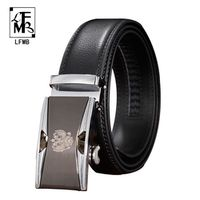 [LFMB]automatic belt automatic men belt automatic buckle leather belt ceinture homme automatic belt buckle genuine leather mens
