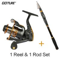 Goture Combo SWORD Telescopic Fishing Rod 2.1-3.6M Spinning Reel Fishing Tackle