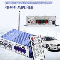 KENTIGER HY-502 USB FM Audio Car Stereo Amplifier Radio MP3 Speaker LED 2 Channel