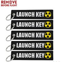 5PCS Nuclear Launch Key Chain Bijoux Keychain for Motorcycle Car Scooters Tag