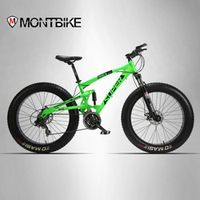 MONTBIKE Lauxjack 26 * 4.0 mountain bike double disc type and SUV 24 bike speed
