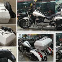 Tail Box Luggage With Top Rack Backrest For VStar 400 650 Virago Xv Road Star Shadow Steed Magna Vulcan Classic VN Boulevard C50