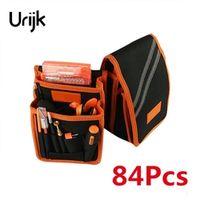 Urijk 84 in 1 Hand Tool Kit Repair Set Waterproofed Portable Multifunctional Screwdriver Set Opener Anti-static Tweezers