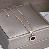 YUN RUO New Arrival Two Sides Roman Shell Number Anklets Titanium Steel Rose Gold Silver Color Fashion Jewelry Gift For Woman