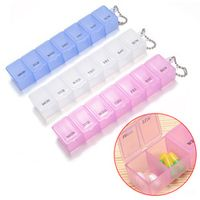7 Days Weekly Tablet Pill Medicine Box Holder Storage Organizer Container Case Pill Box HB88