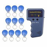 RFID 125KHz ID Card Copier Duplicator Handheld Writer Programmer Reader + 10X Tags ID Keyfobs EM4100 EM410X