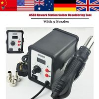 WALFRONT 700W Hot Air Gun 858D ESD Soldering Station LED Digital Desoldering Iron