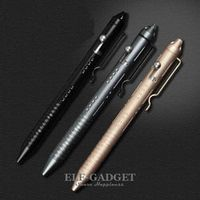 High Quality Portable Tactical Pen Self Defense Weapons Emergency Glass Breaker Aluminum Alloy Bolt Switch Gift Box
