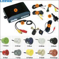 LEEWA Car 4-sensor Rearview Parking Sensor Reversing Aid System With 16.5mm External
