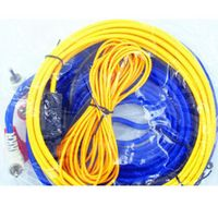 Speaker Installation Wires Cables Kit  Car Audio Wire Wiring Amplifier Subwoofer  60W 4m length Professional