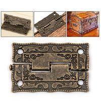 10pcs/set Door Butt Drawer Bronze Decorative Mini Hinges For Cabinet Storage Wooden
