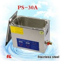 1PC 6L Stainless Steel 110V / 220V 6L perfect Industry Heated Ultrasonic Cleaner Heater Timer Cleaner Cleaning Machine