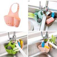 ZLinKJ Kitchen plastic Sink Shelving Bag Cloths Suction Sponge Hanging Soap Dish