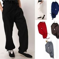 9colors blue/red/black Men's trousers pants kung fu tai chi bloomers trousers cotton old coarse high quality