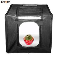 Travor-40*40*40cm and 3000g portable folding Photo Studio Shooting Light Cube Box Tent and 3Color Backdrops