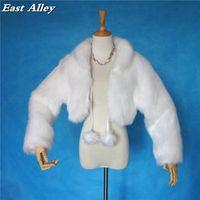 East Alley Winter Outdoor Women's Jacket Wedding Faux Fur