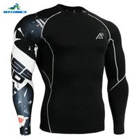CP-B17 2016 Men Golf T Shirt Long Tight Track MMA Undershirt Triathlon Martial Arts Tops Fitness Workout Compression Base Layers